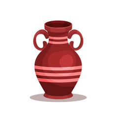 Flat icon of brown ancient greek or roman vector