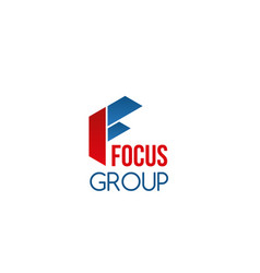 focus group sign vector image