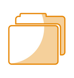 folder file isolated icon vector image