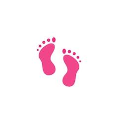 Footprints Icon vector image vector image