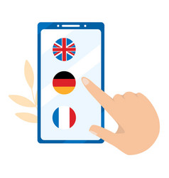 foreign language online learning german english vector image