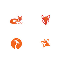fox logo template vector image