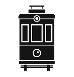 Front view tram icon simple style vector