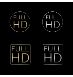 Full HD labels vector image