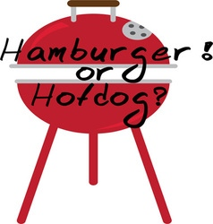 Hamburger or Hotdog vector