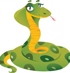 Happy snake vector image
