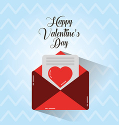 happy valentines day message love envelope cute vector image