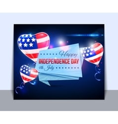Independence day usa typographical vector