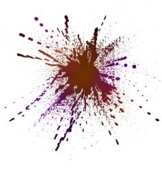 inky splash vector image