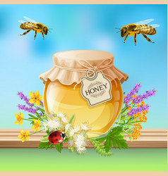 insects bees realistic vector image