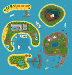 Island top view vector