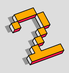 Isometric 2 number vector