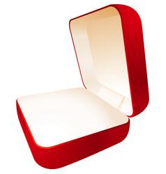 Jewelry box perspective vector