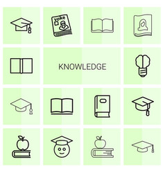 knowledge icons vector image