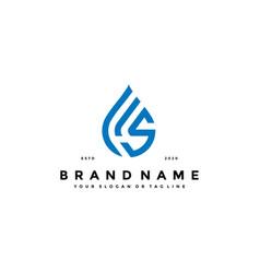 Letter s water drop logo design vector