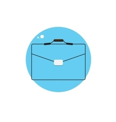 Line icon with flat graphics element of bag vector