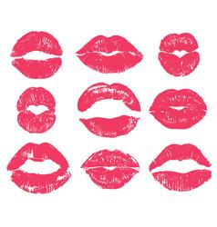 lipstick kiss sexy woman red lips print vector image
