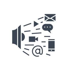 marketing glyph icon vector image