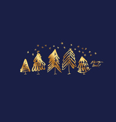 merry xmas lettering banner color template vector image