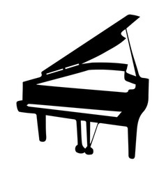 musical instrument silhouette piano vector image