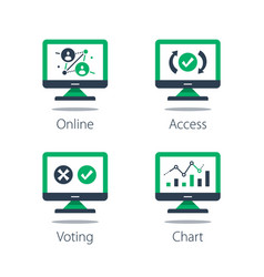 online voting personal data collecting vector image