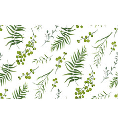 palm fern foliage natural branch seamless pattern vector image