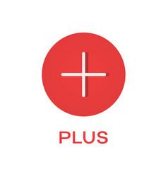 plus round flat icon add symbol vector image