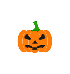 pumpkin of icon halloween color the evil vector image