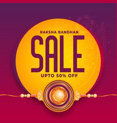 Rakhi festival sale background design vector