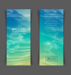 Realistic turquoise-yellow sky vector