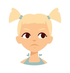 Sadness baby girl vector