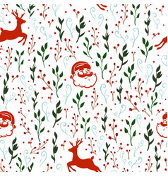 seamless pattern with christmas motif vector image
