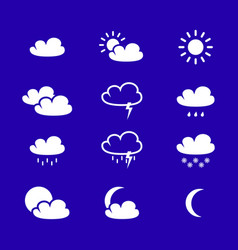 set of weather icons vector image