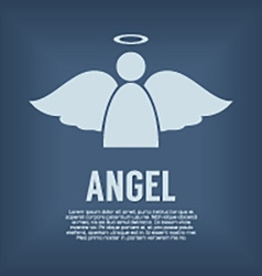 Single Angel Symbol vector image