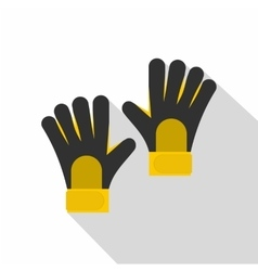 Soccer goalkeepers gloves icon flat style vector