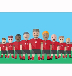 Soccer team captain vector image