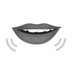 Speaking mouth icon in monochrome style isolated vector image