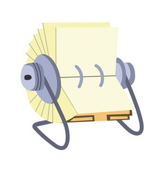 Storage rolodex accompanied by flat design vector