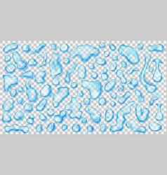 Transparent light blue drops vector