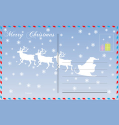 travel postcard merry christmas vector image