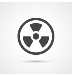 Trendy flat radiation warning icon vector image