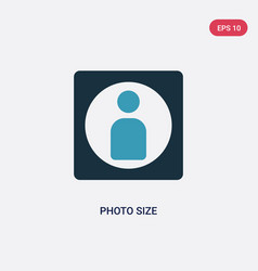Two color photo size icon from user interface vector