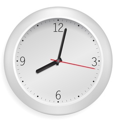 white clock vector image