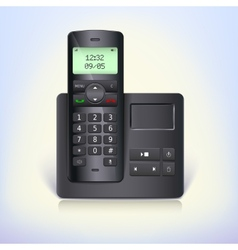 Wireless telephone phone with answering machine vector
