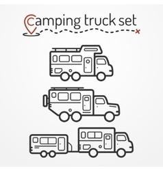 Camping truck set vector image