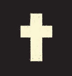 cross on grunge background textures vector image