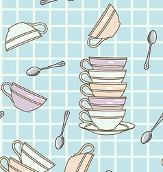 falling cups pattern vector image