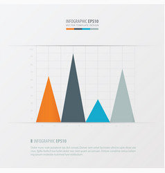 graph and infographic design orange blue vector image