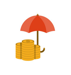 money under umbrella vector image