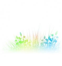 rainbow grass vector image vector image